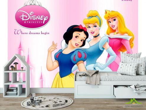 обои в детскую Фотообои 3 принцессы