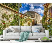 Фотообои переулок с розами