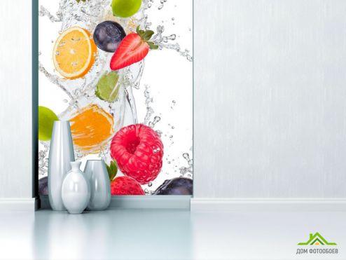 обои Еда и напитки Фотообои фрукты с водой