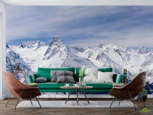 Фотообои Природа по выгодной цене Фотообои снежные горы