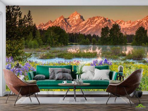 Природа Фотообои Природа, горы, цветы