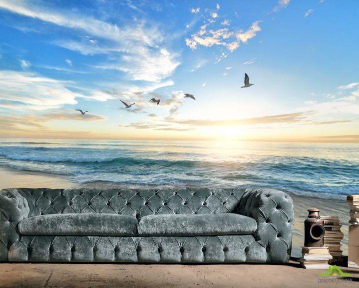 Фотообои Море на закате