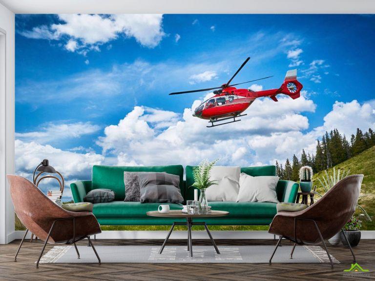 Фотообои красный вертолет