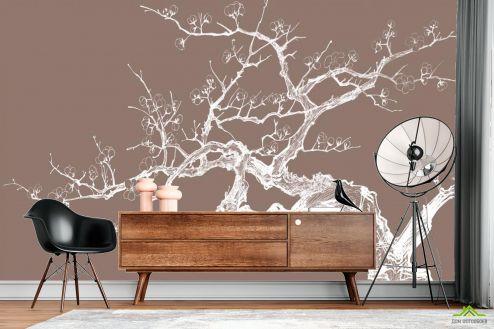 Восточный стиль Фотообои Дерево