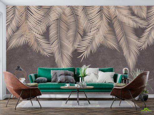 Популярные Фотообои Коричневые листья с потолка купить