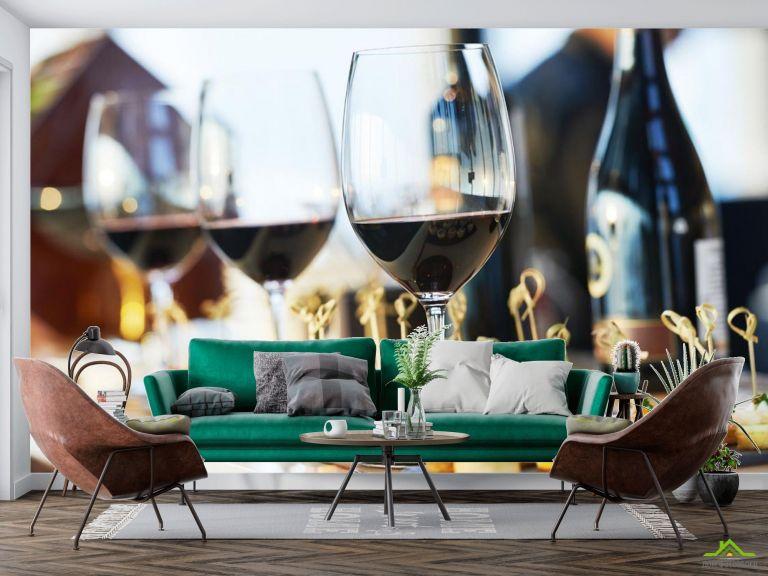 Фотообои вино и тарталетки