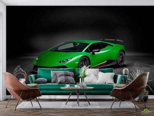 Зеленые  Фотообои Зеленая машина