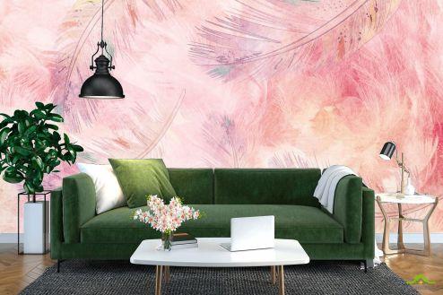 перья Фотообои Перья розовые
