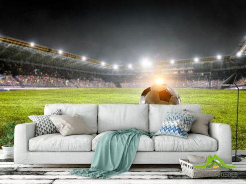 Фотообои Спорт по выгодной цене Фотообои мяч на футбольном поле