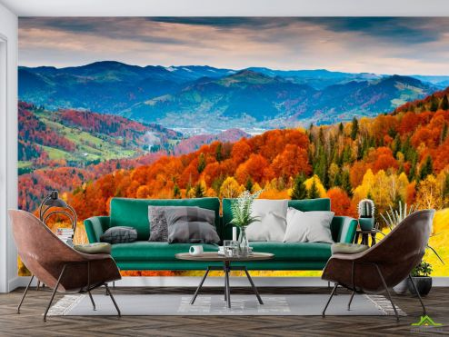 Природа Фотообои Яркая осень, горы