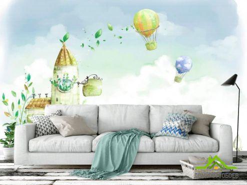 обои Иллюстрации Фотообои Воздушные шары