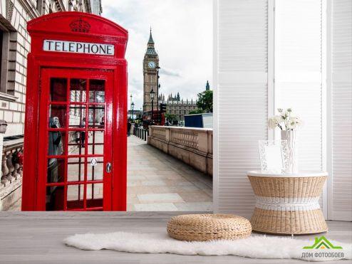 обои Город Фотообои Телефонная будка, Лондон