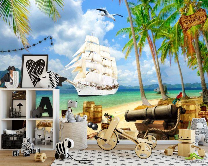 Фотообои Пиратский корабль