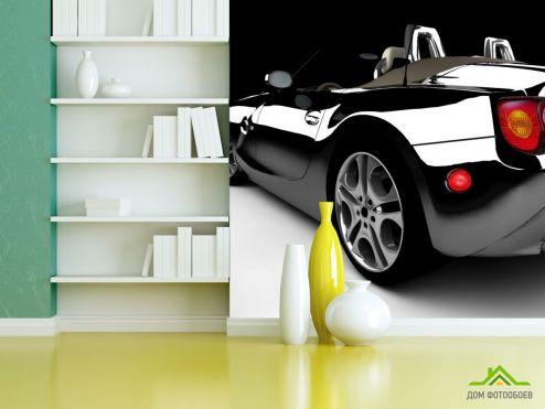 Фотообои Транспорт по выгодной цене Фотообои черный блестящий автомобиль