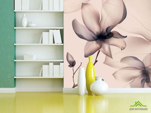 3Д  Фотообои Абстрактный 3д цветок
