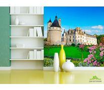 Фотообои Замок с клумбами