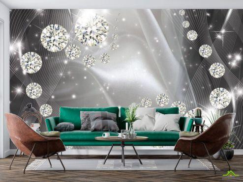 3D  расширяющие пространство Фотообои Бриллиантовые шары  купить