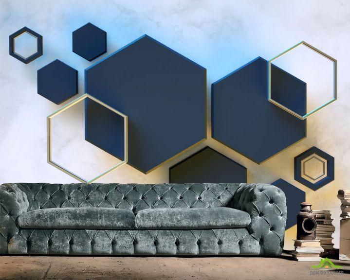 Фотообои Черные шестиугольники