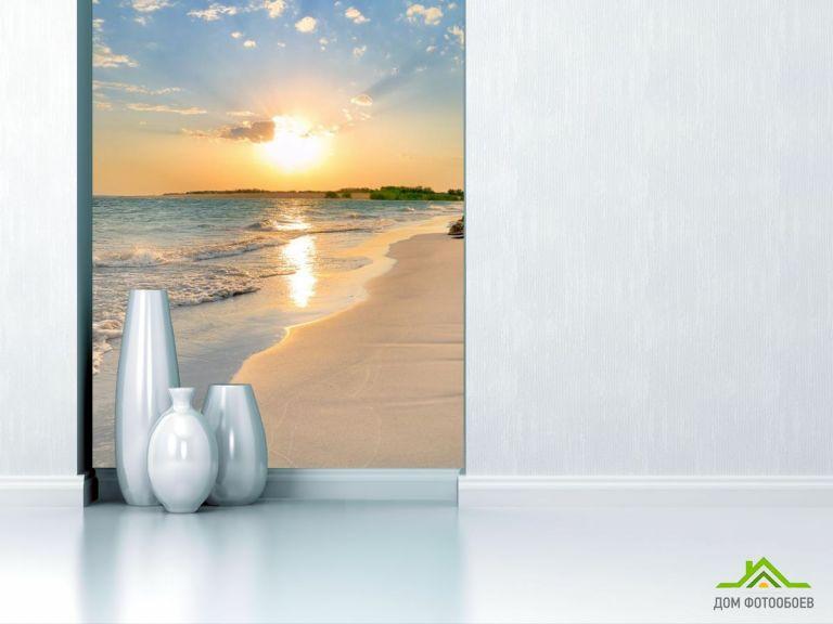 Фотообои солнце над морем