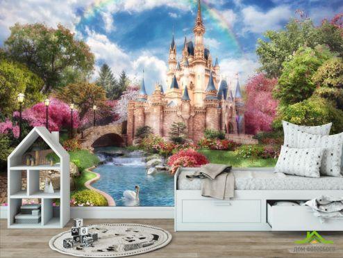 обои для малышей Фотообои Сказочный замок