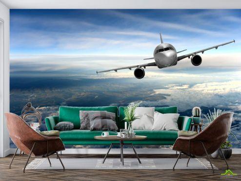 Фотообои Природа по выгодной цене Фотообои самолёт над облаками