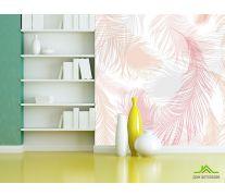 Фотообои Розовые векторные перья