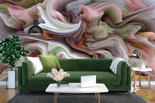Каменная стена Фотообои Объёмное разноцветное размытие