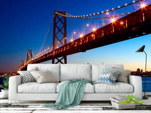 Фотообои Архитектура по выгодной цене Фотообои Мост Бруклинский