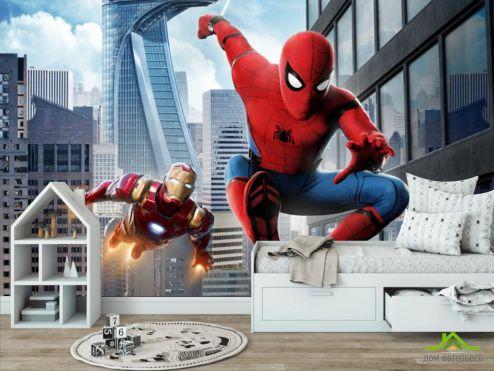 обои в детскую  Фотообои Человек паук в деле