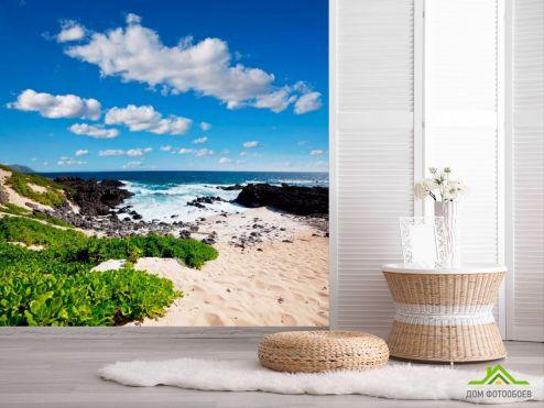 обои Пляж Фотообои Пустынный морской пляж