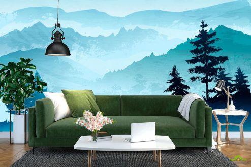 Природа Фотообои Горы в скандинавском стиле купить