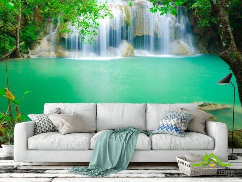 Водопад Фотообои Вода с камнями